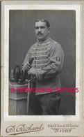 CDV Hussard Du 7e R-insigne Manche Maréchal Ferrant-photo Richard à Niort - Guerre, Militaire