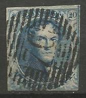 Belgique - Médaillons - N°7V3 Prolongation Du Cadre Supérieur Droit - 1851-1857 Medallions (6/8)