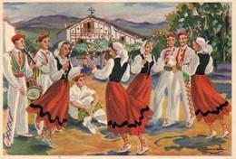 Belle CPSM (PAYS BASQUE) : ARKU DANTZA, Danse Des Arceaux 1950. - Homualk
