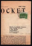 Timbre Sur Bande De Journal Entier Non Ouvert.( The Rocket) De 1946 - Covers & Documents