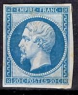 France YT N° 14A Neuf *. Belle Gomme D'origine. Signé Brun. B/TB. A Saisir! - 1853-1860 Napoleone III