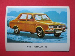 "Trading Card (Cromo) - Renault 12 - Nº 142 - Col. ""Automóviles"" - Ed. Maga 1972 - (Spain) / France - Automobili"