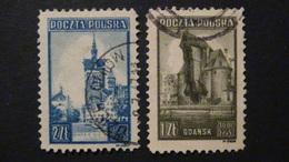 Poland - 1945 - Mi:PL 410-1, Sn:PL 370-1, Yt:PL 450-1 O - Look Scan - Usados