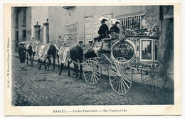 CPA - CUBA - HABANA (La Havane) - Coche Funerario - The Funeral Car - Cuba