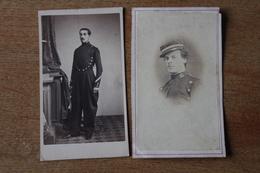 2 Cdv  Second Empire  Militaire   élevé Militaire  Par Eugene De Paris - Guerre, Militaire