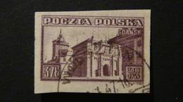 Poland - 1945 - Mi:PL 412B, Yt:PL 452nd, AFA:PL 407U, Pol:PL 379B O - Look Scan - Usados