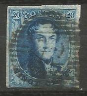 Belgique - Médaillons - N°7 - Curiosité Double Impression Partielle Du Cadre Supérieur - 1851-1857 Medallions (6/8)