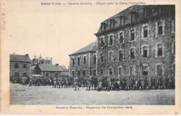 MILITARIA - 35 - SAINT MALO : Caserne Rocabey : Départ Pour Le Camp De COËTQUIDAN - CPA - Ille Et Vilaine - Barracks