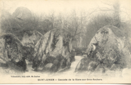 CPA - SAINT JUNIEN - CASCADE DE LA GLANE AUX GROS ROCHERS - Saint Junien