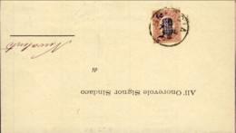 1880-piego Da Brescia A Nuvolento Affrancato Servizio 2c. Su 0,20 - 1878-00 Umberto I