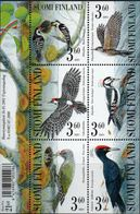 Finland 2001 Woodpeckers Block Issue MNH Birds - Specht- & Bartvögel