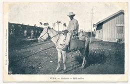 CPA - CUBA - Lechero - Milk Seller - Cuba