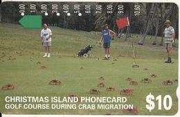 CHRISTMAS ISLAND - Golf Course During Crab Migration, Tirage 15000, Used - Christmas Island