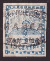 Argentina, 15 Centavos Azzurro Del 1858 Usato          -CK76 - 1858-1861 Confederazione