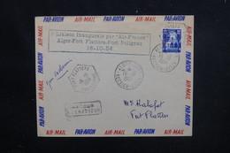 ALGÉRIE - Enveloppe 1ère Liaison  Alger / Fort Flatters / Fort Polignac En 1954 - L 51998 - Algeria (1924-1962)