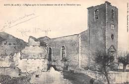 (54) Leyr - L'Eglise Après Le Bombardement De 1914 - Other Municipalities