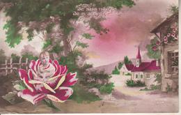 Enfant Dans Une Rose - Escenas & Paisajes