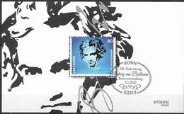 2020 Allem. Fed. Deutschland Germany Mi.Bl 85 FD.-used  Bonn   250. Geburtstag Von Ludwig Van Beethoven - BRD