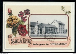 LIBRAMONT  ...  2 Cartes Souvenirs Gare ... Train  Creations Modernes Série Limitée - Libramont-Chevigny