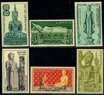 Laos 1953 Oath Ceremony,Buddha,Temple,Statue,Jewelry,Thailand,Mi.34,MNH,CV=$56 - Buddhism
