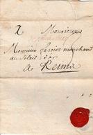 Précurseur LAC De Charleville Vers Reims En 1707 3 De Port - 1701-1800: Precursors XVIII