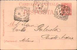 1907- Cartolina Postale Risposta Da 7,5 C.con Al Verso Bollo Ovale Societa' Anonima Lariana In Como Per La Navigazione A - 1900-44 Victor Emmanuel III