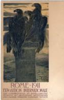 1911- Cartolina Illustrata Roma Esposizione Internazionale Affrancata 5c. Leoni - Pubblicitari