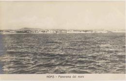 """1911/12-""""Guerra Italo-Turca,Homs Panorama Dal Mare""""assolutamente Perfetta - Altre Guerre"""
