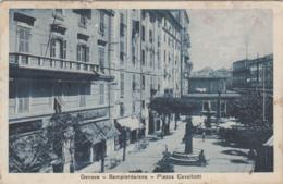 1917-Genova, Sampierdarena Piazza Cavallotti, Viaggiata - Genova (Genoa)