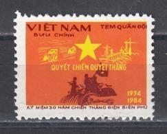 Vietnam 1984 - 30th Anniversary Of The Battle Of Dien Bien Phu, Portofreiheitsmarke Mi-Nr. 42, MNH** - Vietnam