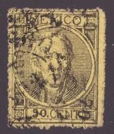 Mexico, 1870 Issue 50 C. Hidalgo Postally Used Forgery (signed Jaretzky)        -CK48 - Messico