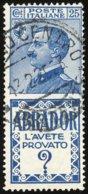 1924-(o=used) Pubblicitari 25c. Abrador Con Buona Centratura Cat.Sassone 200, Francobollo Perfetto Con Dentellatura Rego - Publicité