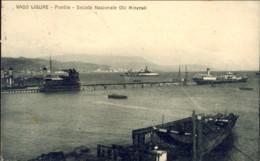 "1925-""Vado Ligure-pontile-societa' Nazionale Olii Minerali ""affrancata Coppia 10c.Leoni - Savona"