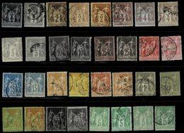 A3-nuances Caractéristiques En Bon état. - 1876-1898 Sage (Type II)