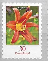 2020 Allem. Fed. Deutschland Germany Mi.3516 **MNH Nr.65   Blumen : Gelbrote Taglilie (Hemerocallis Fulva) - BRD