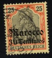 1905 1. Okt. Freimarke Mi DR-MA 25 Sn DR-MA 24 Yt DR-MA 24 Sg DR-MA 30 AFA DR-MA 25 Gest. O - Deutsche Post In Marokko
