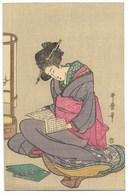 JAPON-Carte Fantaisie Illustrateur... Femme - Altri
