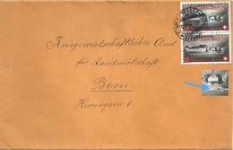 """Bahnstempel  """"Thun-Burgdorf-Thun""""  (Markenabart)        1944 - Suisse"""
