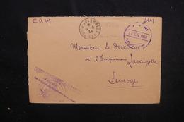 MAROC - Enveloppe En FM De La Cie Saharienne De La Saoura Pour Limoges En 1938 - L 52013 - Maroc (1891-1956)