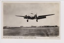 Vintage Rppc KLM K.L.M Royal Dutch Airlines Lockheed Super Electra @ Schiphol Airport - 1919-1938: Fra Le Due Guerre