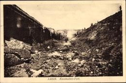 Cp Liège Lüttich Wallonien, Kasematten Fort, Kriegszerstörungen, I. WK - Belgien