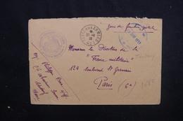 MAROC - Enveloppe En FM De La Cie Saharienne De La Saoura Pour Paris En 1939 - L 52014 - Maroc (1891-1956)