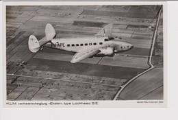 Vintage Rppc KLM K.L.M Royal Dutch Airlines Lockheed Super Electra  Aircraft - 1919-1938: Fra Le Due Guerre