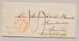 Nederland - 1863 - Complete Vouwbrief Van VLAARDINGEN Naar Nymegen - ...-1852 Préphilatélie