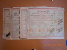 LOT De 4 TITRES - Cie Universelle Du CANAL INTEROCEANIQUE De PANAMA Du 26 Juin 1888 - Navigation
