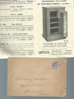 Preo Yvert N° 43 Affranchissant Une Lac Avec Pub Coffre Fort Vers 1930   LL17308 - Préoblitérés