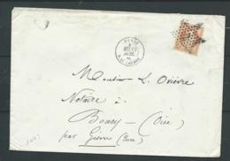Yvert N°23 Sur LSC Obli. étoile 2 ( Paris Rue Saint Lazare 15/07/1866 ( 2è échelon ) Pour Boury ( Oise )   LL17311 - 1862 Napoleon III