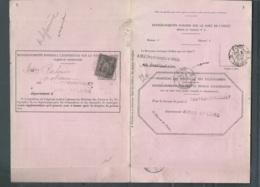 YVERT N°  89  Affranchissant DEMANDE DE RENSEIGNEMENT Sur Le Sort D'1 Objet Recommandé En 06/1889  LL17306 - Posttarife