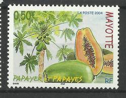 MAYOTTE 2004 PAPAYA PLANT,FRUIT MNH - Mayote (1892-2011)