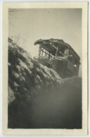 """Guerre De 1914-18 . Petite Photo De L'autobus De Berry-au-Bac (Aisne) 1917 . """"Place Pigalle - Halle Aux Vins De Bercy"""". - Guerre, Militaire"""